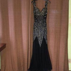 Mermaid Rhinestone Dress
